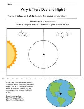 Day And Night Earth And Space Science Day For Night Fun Science