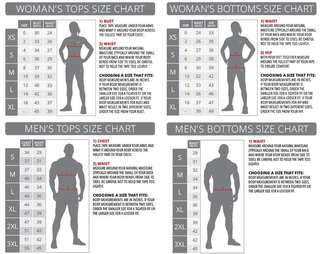 Tlf Size Charts Gym Workout Outfits Gym Outfit Intense Workout