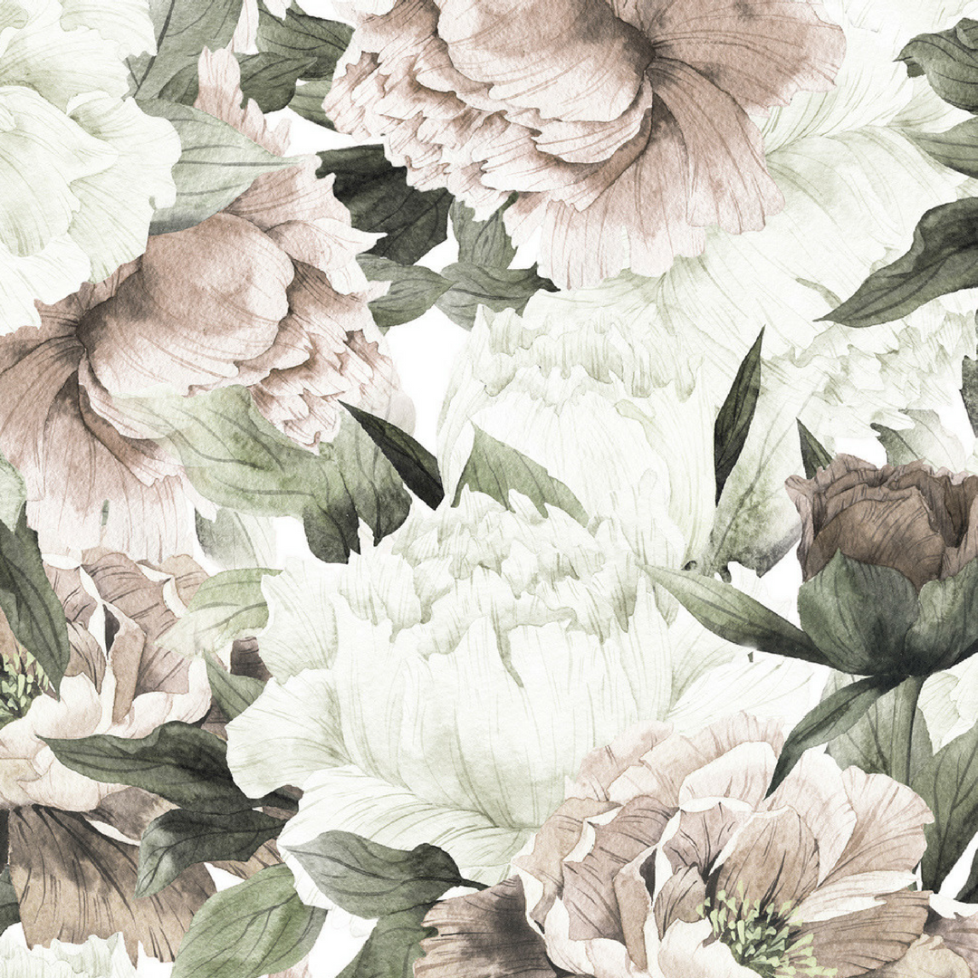 Blush Floral Wallpaper Mural Vintage Floral Wallpapers