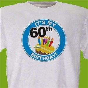 Personalized 60th Birthday T Shirt