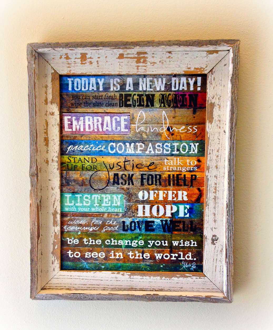 custom barnwood frames todays a new day framed print 2399 http