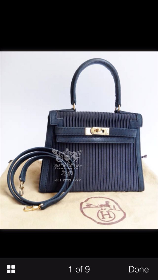 d7080062e96c RARE HERMES MINI KELLY 20 SILK WITH LEATHER GOLD HARDWARE WITH STRAP  DUSTBAG KEYS LOCK AND