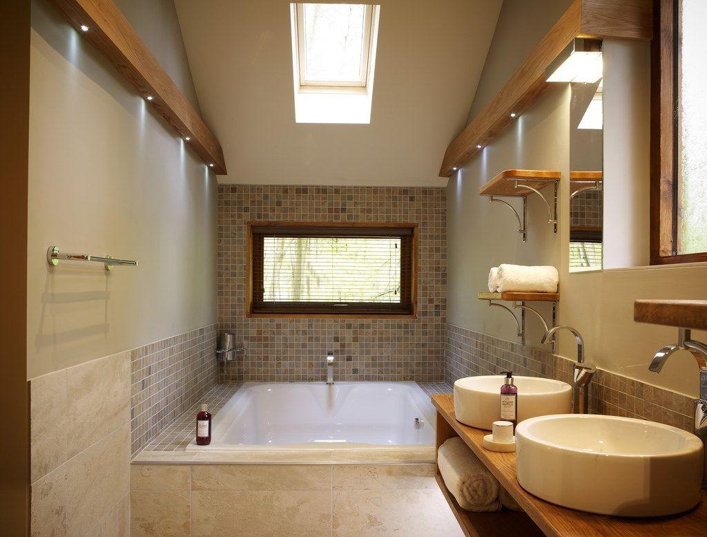 Golden Oak Hideaway Cabin Woodz Luxury Lodge Holiday Bathroom Log Cabin Holidays