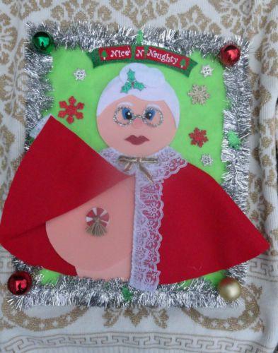 claus pasties boobies nice n naughty large naughty christmas sweater - Christmas Boobies