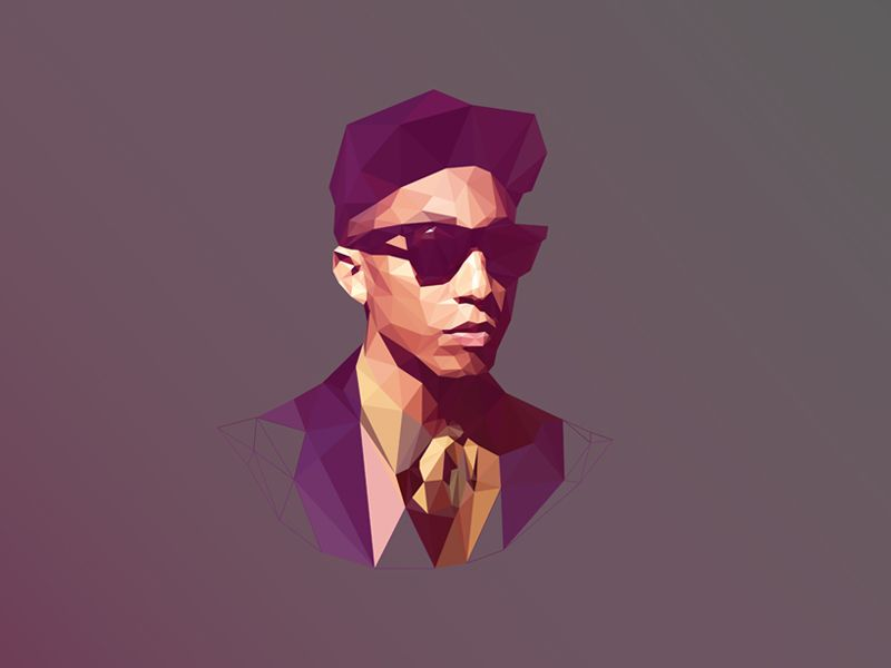 Häufig Pharrell Williams by Breno Bitencourt | Moon sparkle | Pinterest  YB59