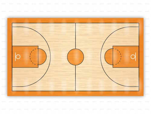 photo about Printable Basketball Court called Basketball courtroom diagrams for drawing up performs and drills