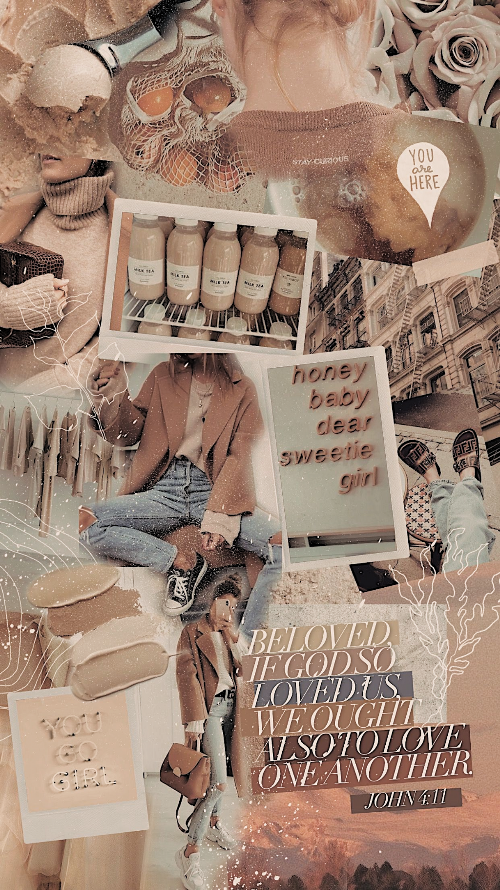6 Aesthetic Collage Wallpaper Coffee In 2020 Aesthetic Pastel