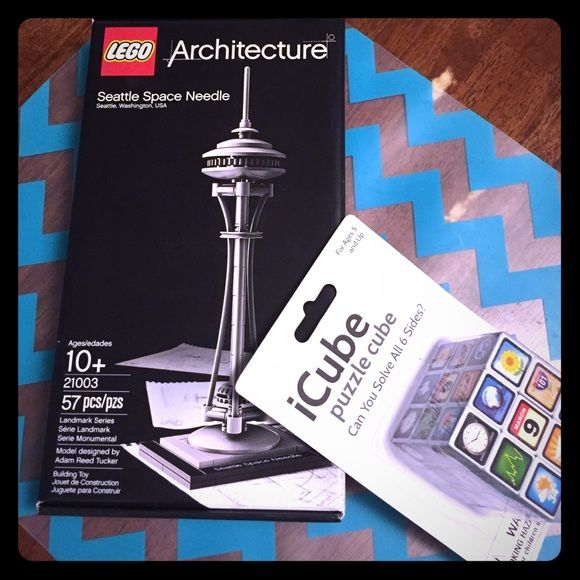 Lego Space Needle & icube rubix puzzle Both new never opened! Good extra gift ideas Accessories