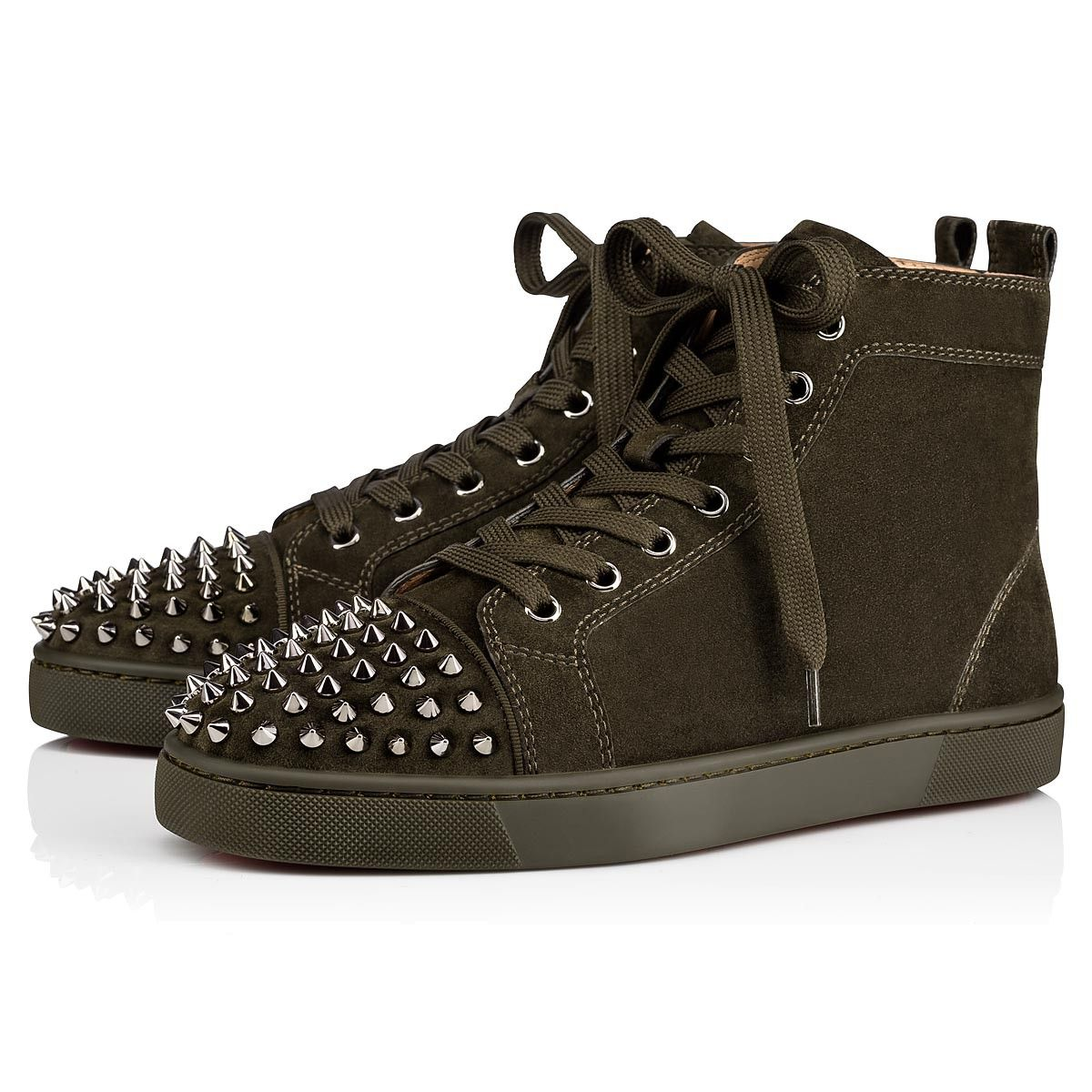 084d80fd0162 CHRISTIAN LOUBOUTIN Lou Spikes Veau Velours.  christianlouboutin  shoes