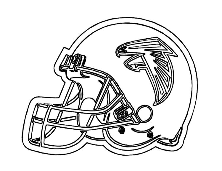 Football Helmet Atlanta Falcons Coloring Page For Kids Football