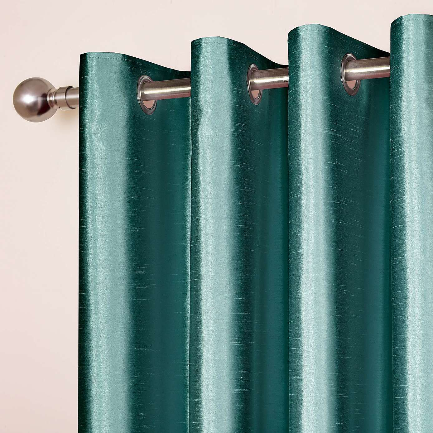 Teal Silver Curtains Faux Silk Teal Blackout Eyelet Curtains Harry Potter Ravenclaw