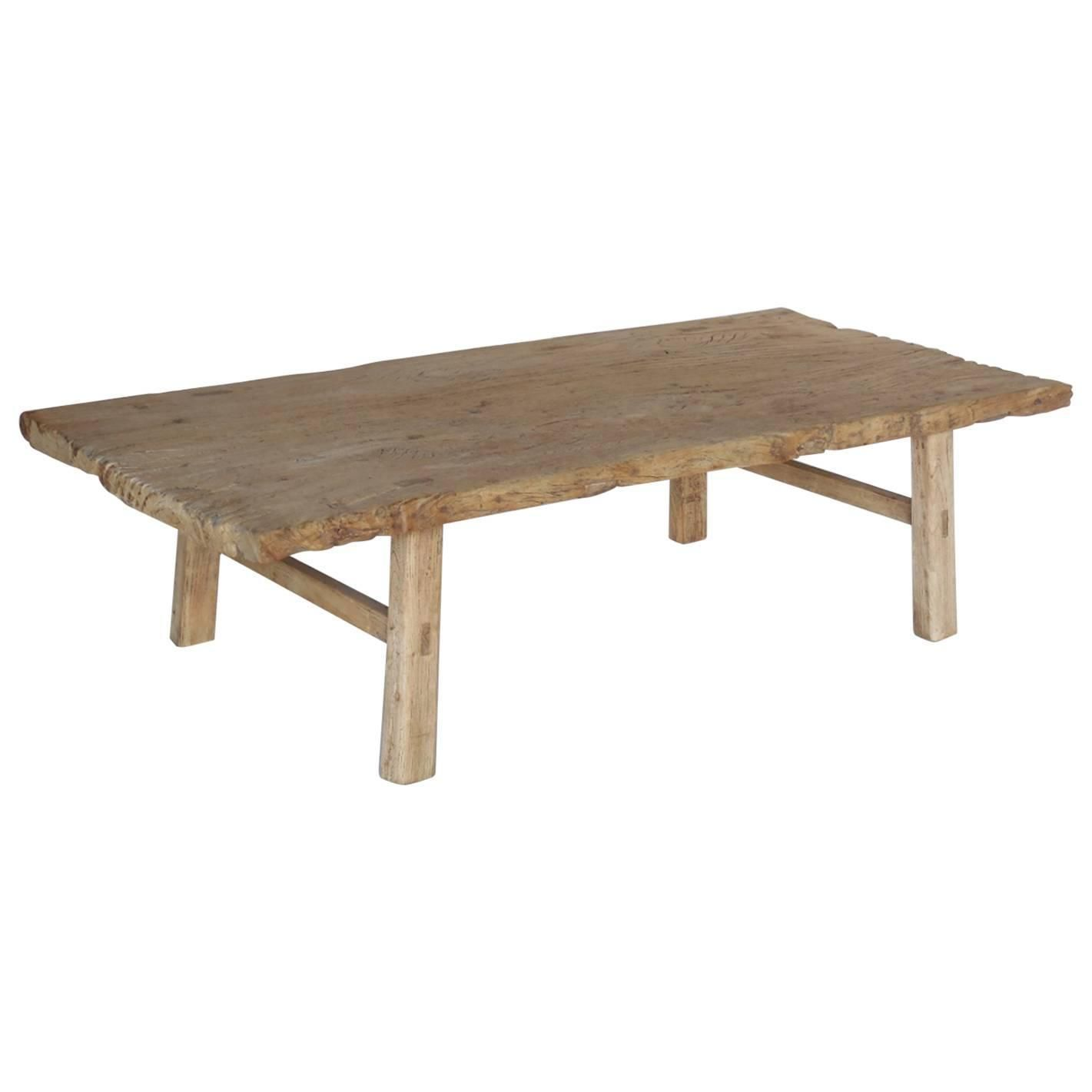 elm wood coffee table at dos gallos
