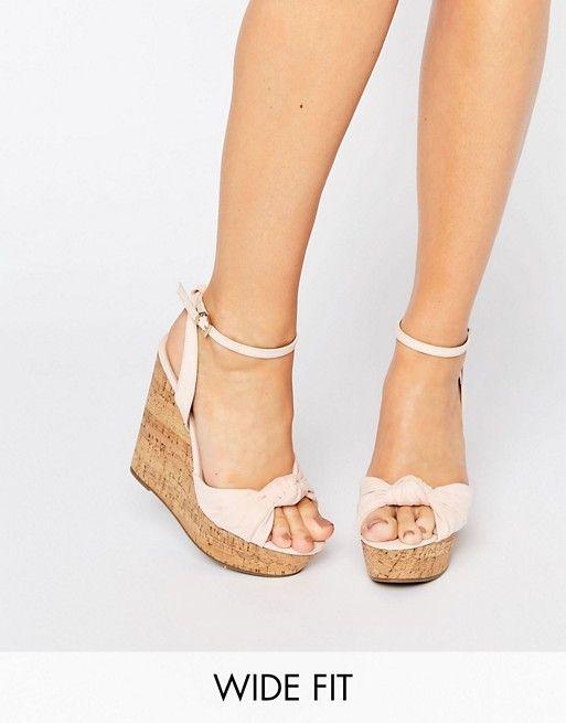 ASOS - TRAFFIC JAM - Chaussures compensées pointure large 47,99 ... 4a9d7452a8cc
