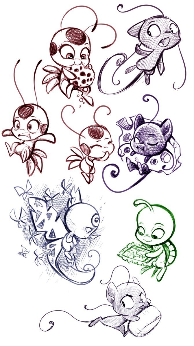 Kwamis By Sharkie19 On Deviantart Miraculous Ladybug Anime Miraculous Ladybug Comic Miraculous Ladybug