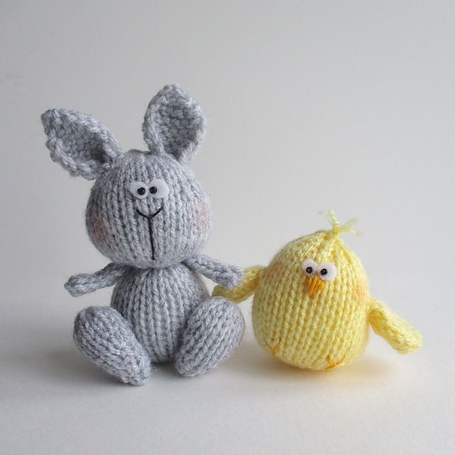 Bunny and chicky pattern by amanda berry ravelry bunny and patterns toy negle Gallery