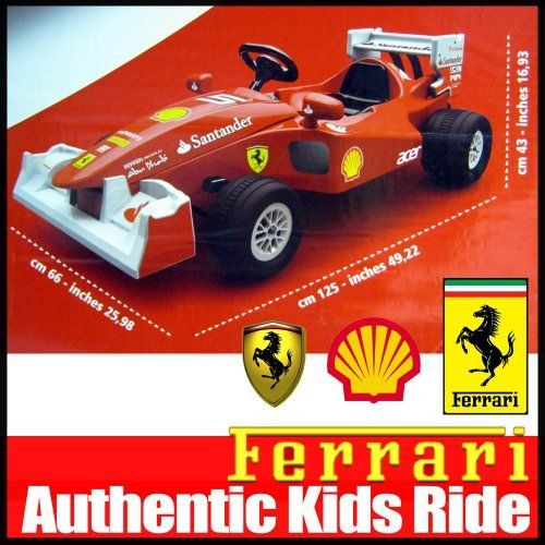 ferrari electric car kids f 1 formula ride on racing toy 6 volt drive children