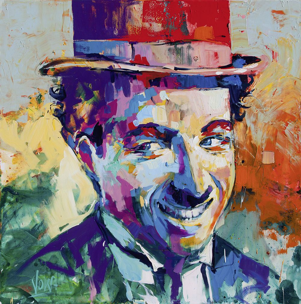 Charlie Chaplin 190x190cm 74 8x74 8 inch acrylic on canvas