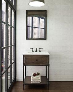 Image result for industrial vanity units for bathrooms - Industrial style bathroom vanities ...
