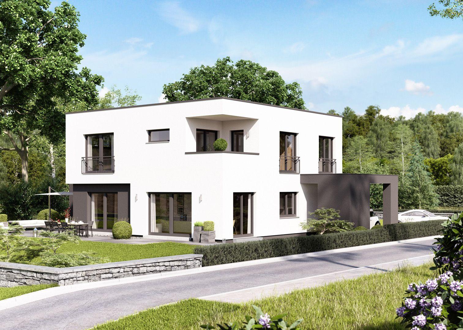 Villa treppenhaus modern  Cube 10 I Flachdach I massa haus 😁💚 #Lifestyle #Baufamilien ...