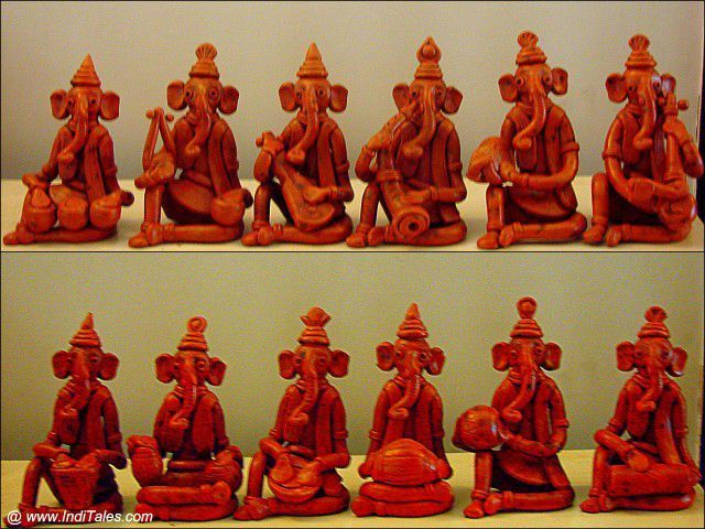 Photo of Ganesha as Musician in Terracotta from Bengal #शिल्प उपहार T…