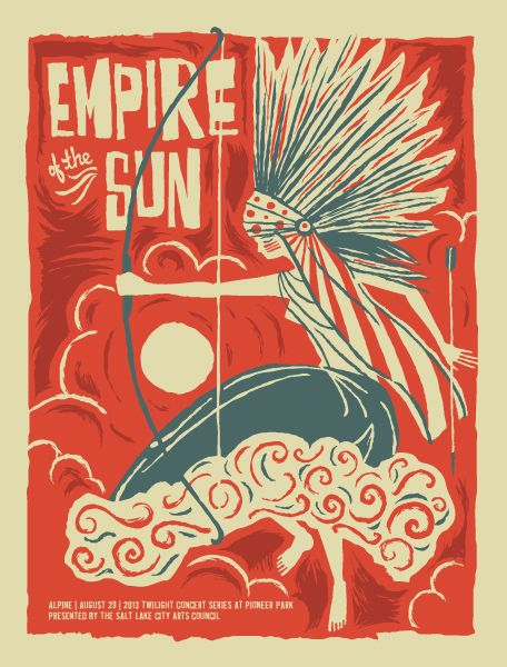 Empire Of The Sun Gig Poster By Furturtle Concert Poster Design Poster Gig Posters