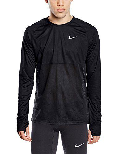b1f8a8fad NIKE Nike Men'S Long-Sleeved Shirt Dri Fit Racer Black / Reflective Silver.  #nike #cloth #