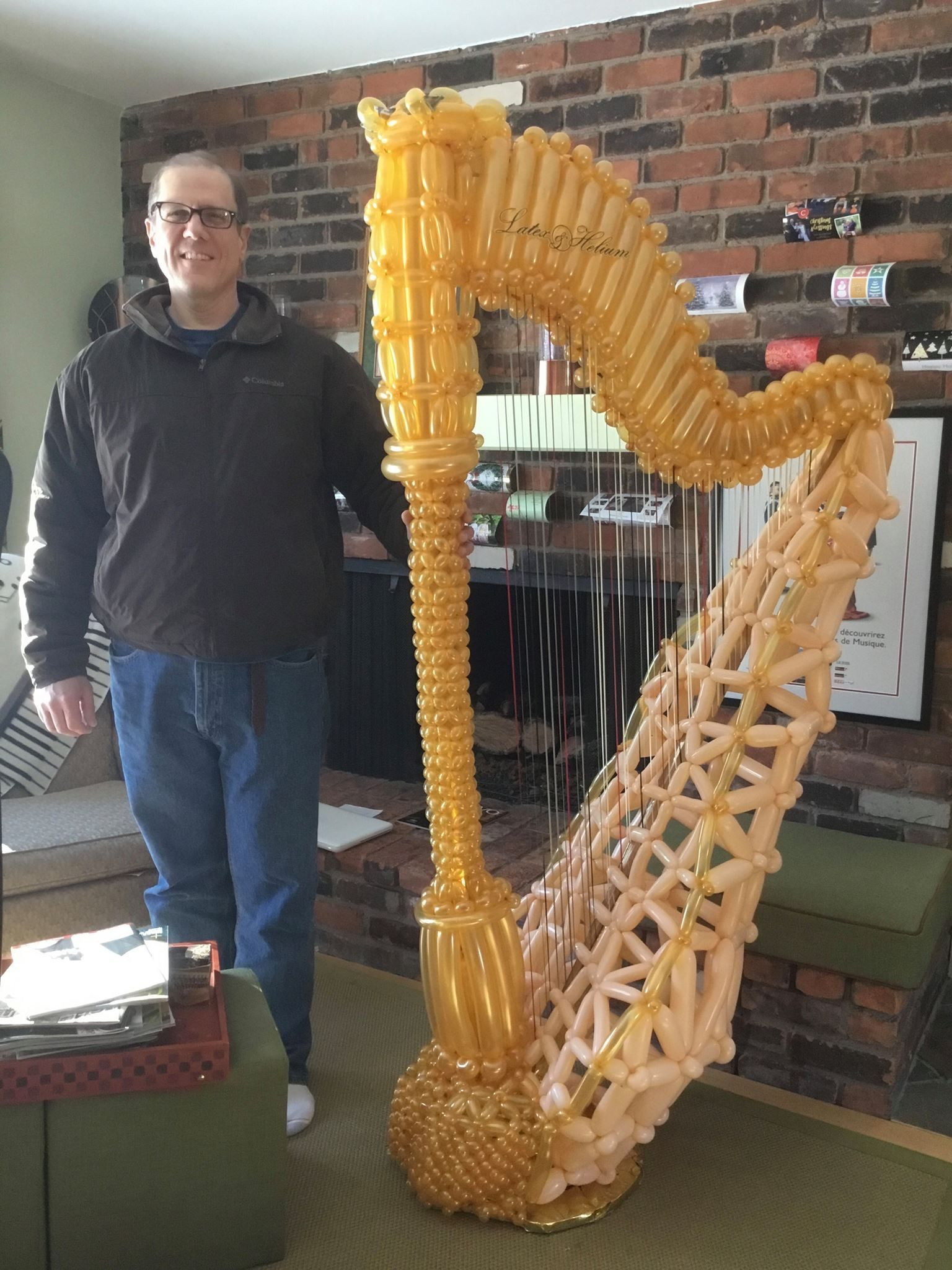 Harp Made Out Of Balloons Harps Music Choir Music Celtic Harp