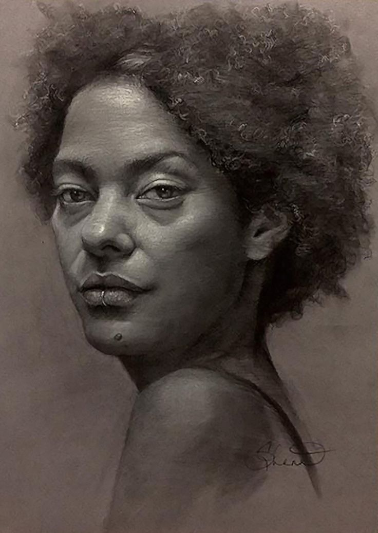 drawing ebony women face
