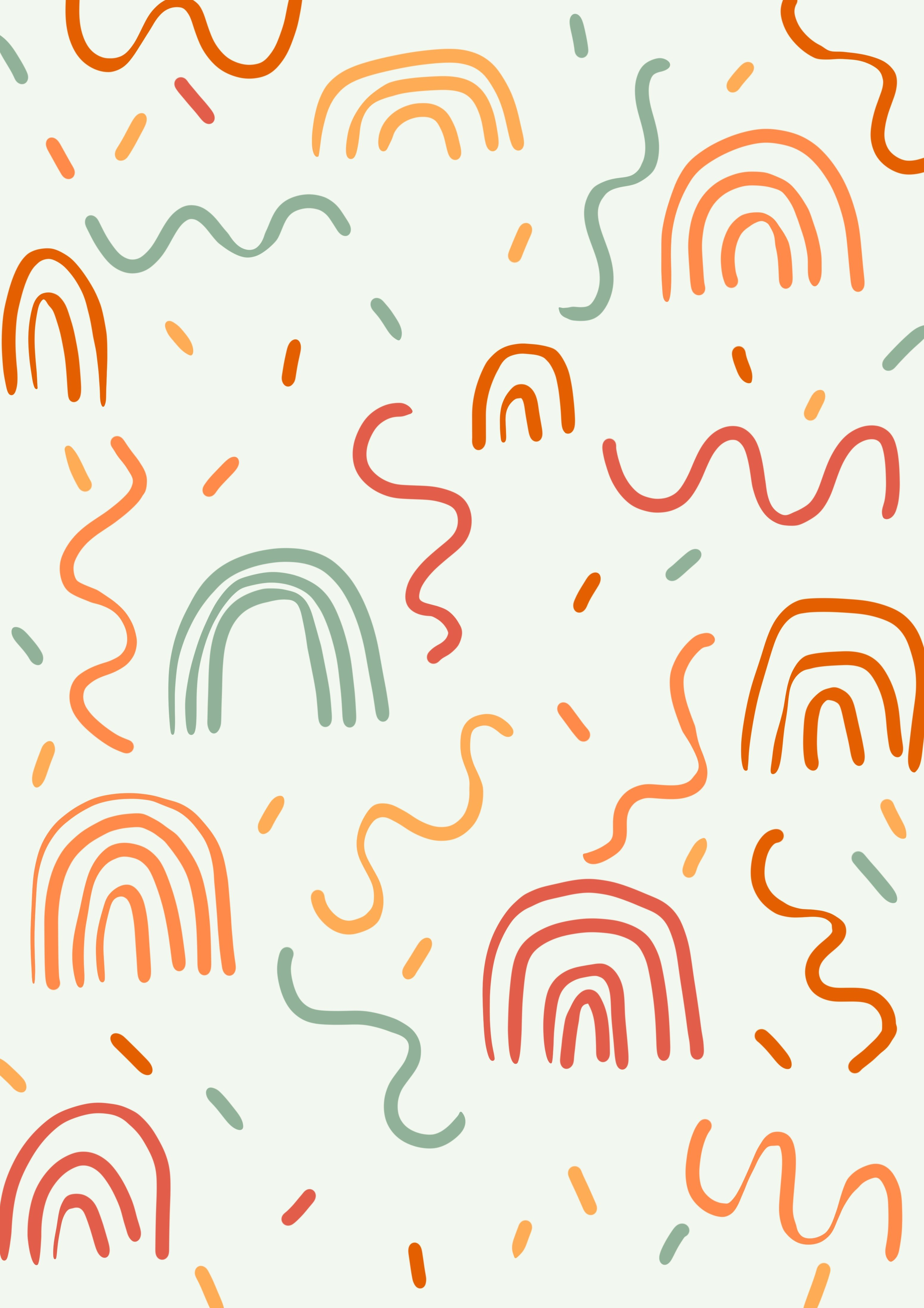 Charlotte Dreams Art Illustrations Abstract Colorful Pattern Drawing Iphone Background Wallpaper Cute Patterns Wallpaper Pattern Wallpaper