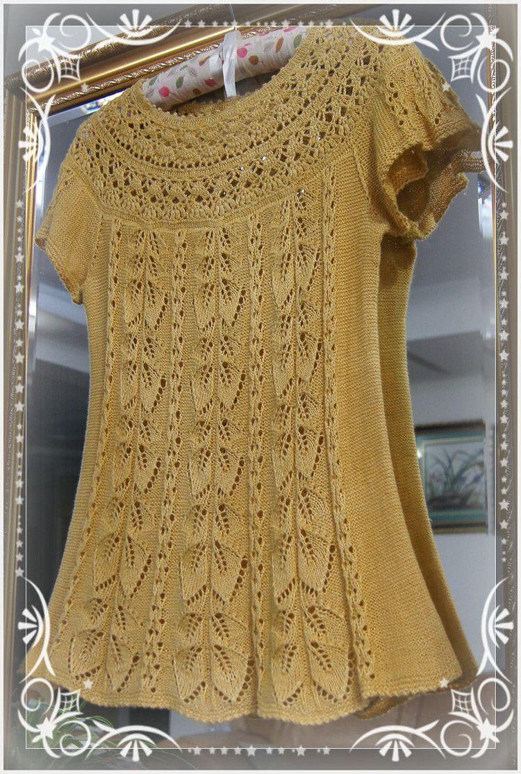 Желтые листья - Вязание комбинированные - вязание музыка - Liuyuexue руководство Square