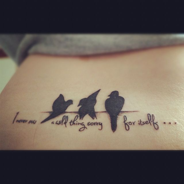 Tattoo Quotes And Poems Quotesgram: Bird Tattoo With D H Lawrence Quote From The Poem Self