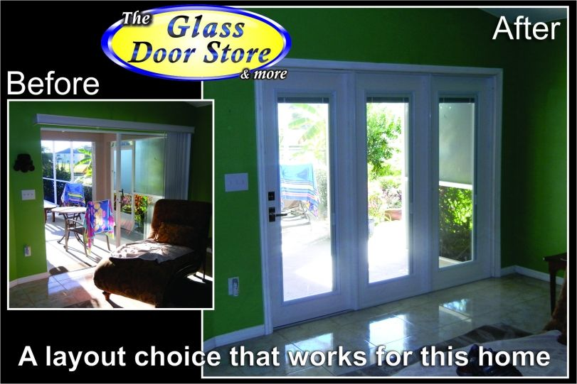 Sliding Glass Doors Replaced With Triple Door Unitg Home