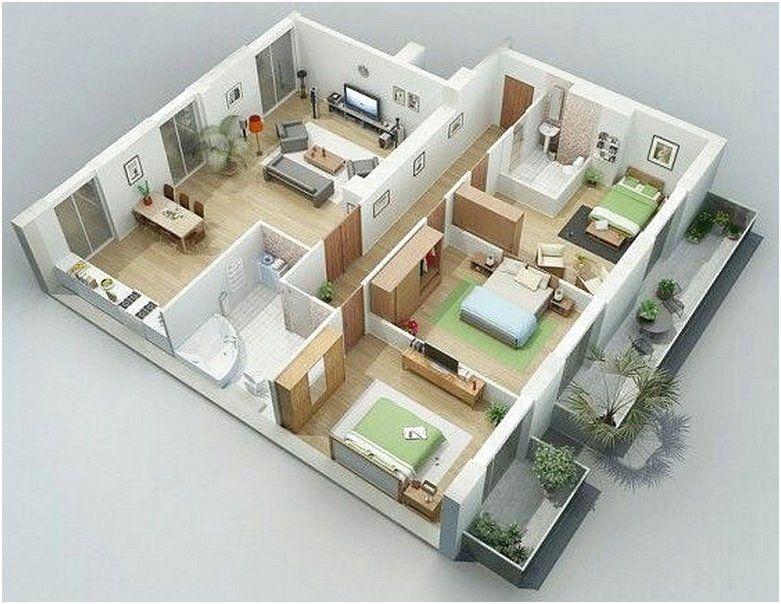 Sketsa Denah Rumah Minimalis 3 Kamar Tidur 3d Denah Rumah Denah Desain Rumah Desain Rumah