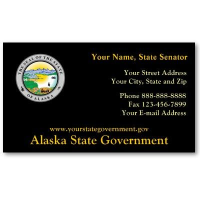 Alaska State Seal Government Business Card Business Cards Alaska