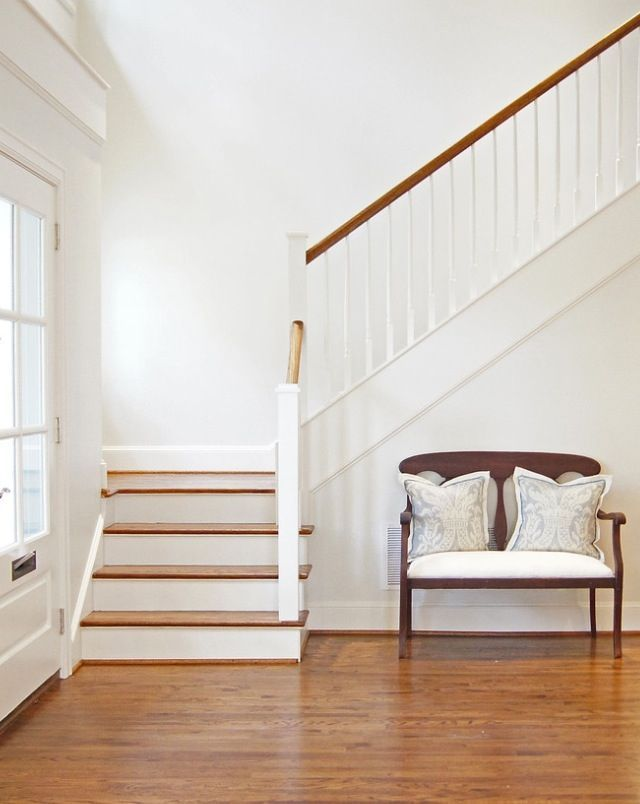 Choosing Base Colors For The Home The Handmade Home Home Living Room White Stairs