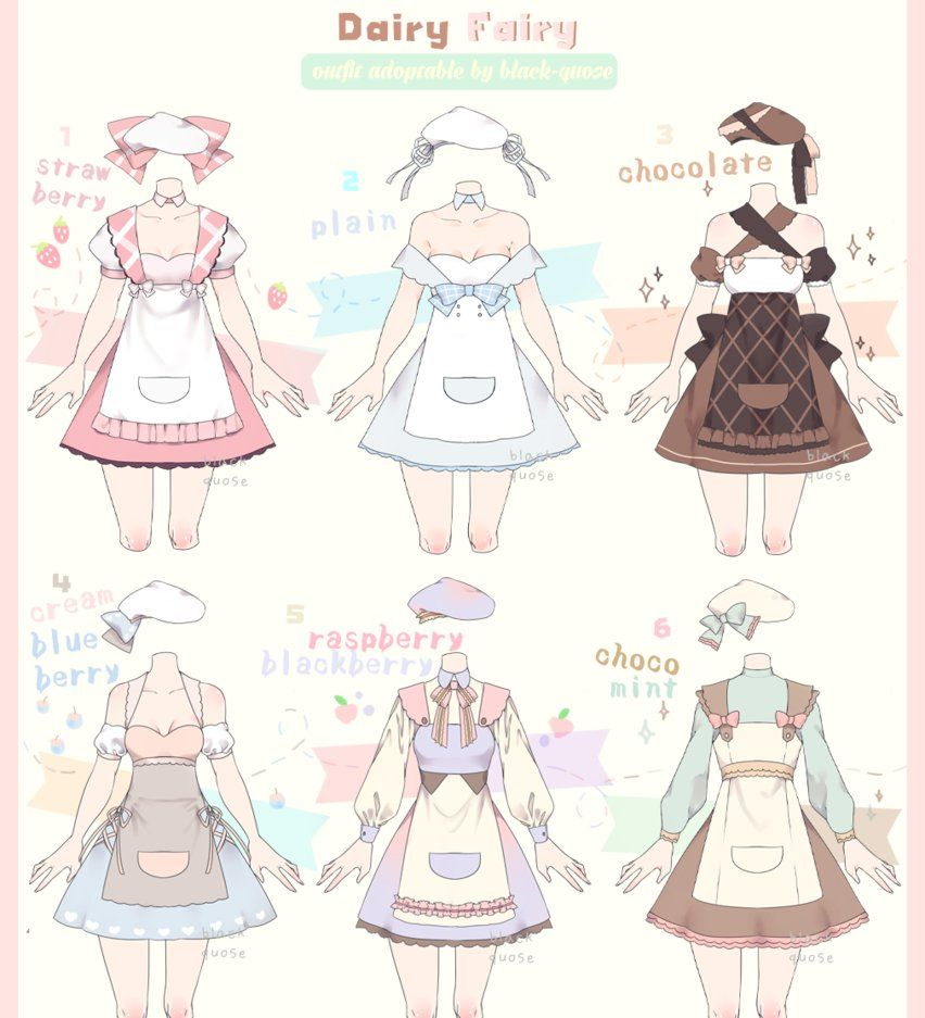 Closed Dairy Fairy Outfit Adoptable 16 By Black Quose Deviantart