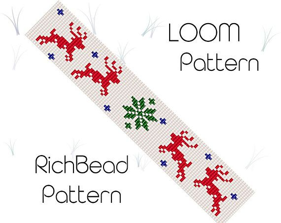 CHRISTMAS REINDEER BEADED BANNER PDF PATTERN ONLY