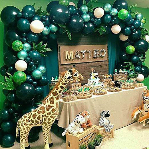Amazon Com Jungle Safari Theme Party Decoration 158pcs10in Green Balloon Garland In 2020 Safari Theme Party Safari Theme Birthday Party Safari Theme Party Decorations