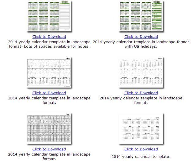 Calendarios 2014 en formato mensual o anual para descarga e ...