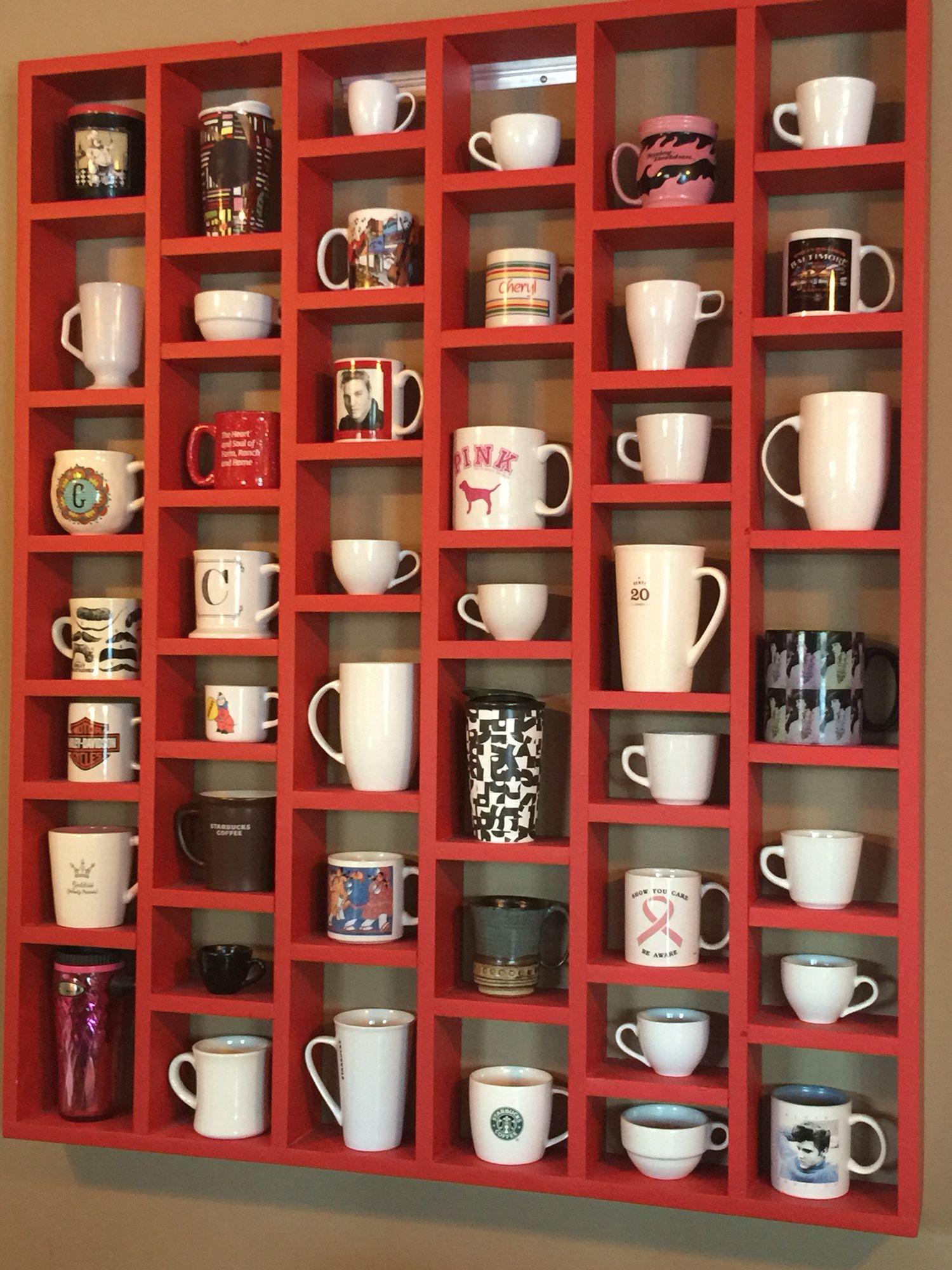 Coffee Cup Shelf By J Koehnen Coffee Mug Display Coffee Bar Home Diy Kitchen Storage