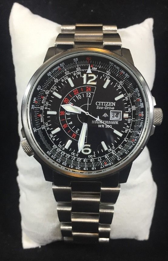 Men S Citizen Eco Drive Watch Nighthawk Wr200 Priced To Sell Ebay