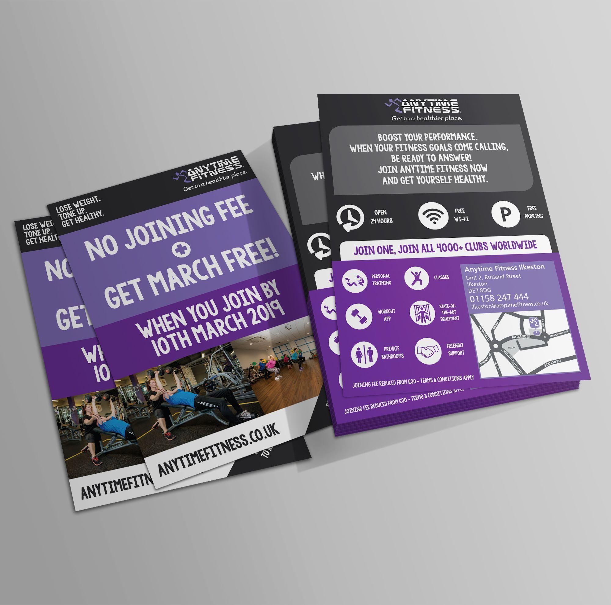 Anytime Fitness Leaflet Printing Anytime Fitness Leaflet