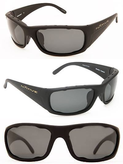 46c44dc040 Sport Protective Eyewear 158938  New Native Eyewear- Mens Bomber Polarized  Sunglasses Matte Black Gray -  BUY IT NOW ONLY   99 on eBay!