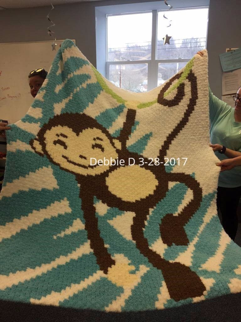 Pd from Two Magic Pixels 80 x 100. Made with Bernat Pipsqueak yarn ...