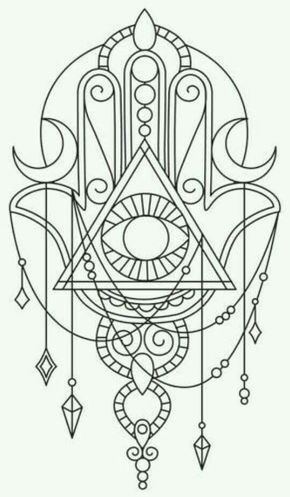 I Like The Draping Jewels Of Hand Rest Hamsa Fatima Sternum Tattoo Inspo