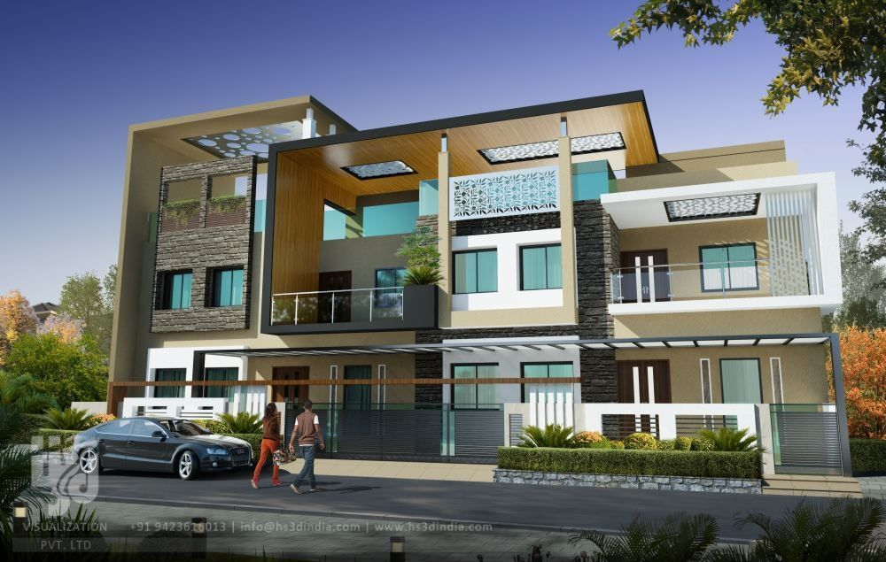 Pin By Azhar Masood On House Elevation 48D Power In 48 Pinterest Amazing 3D Exterior Rendering Creative Decoration