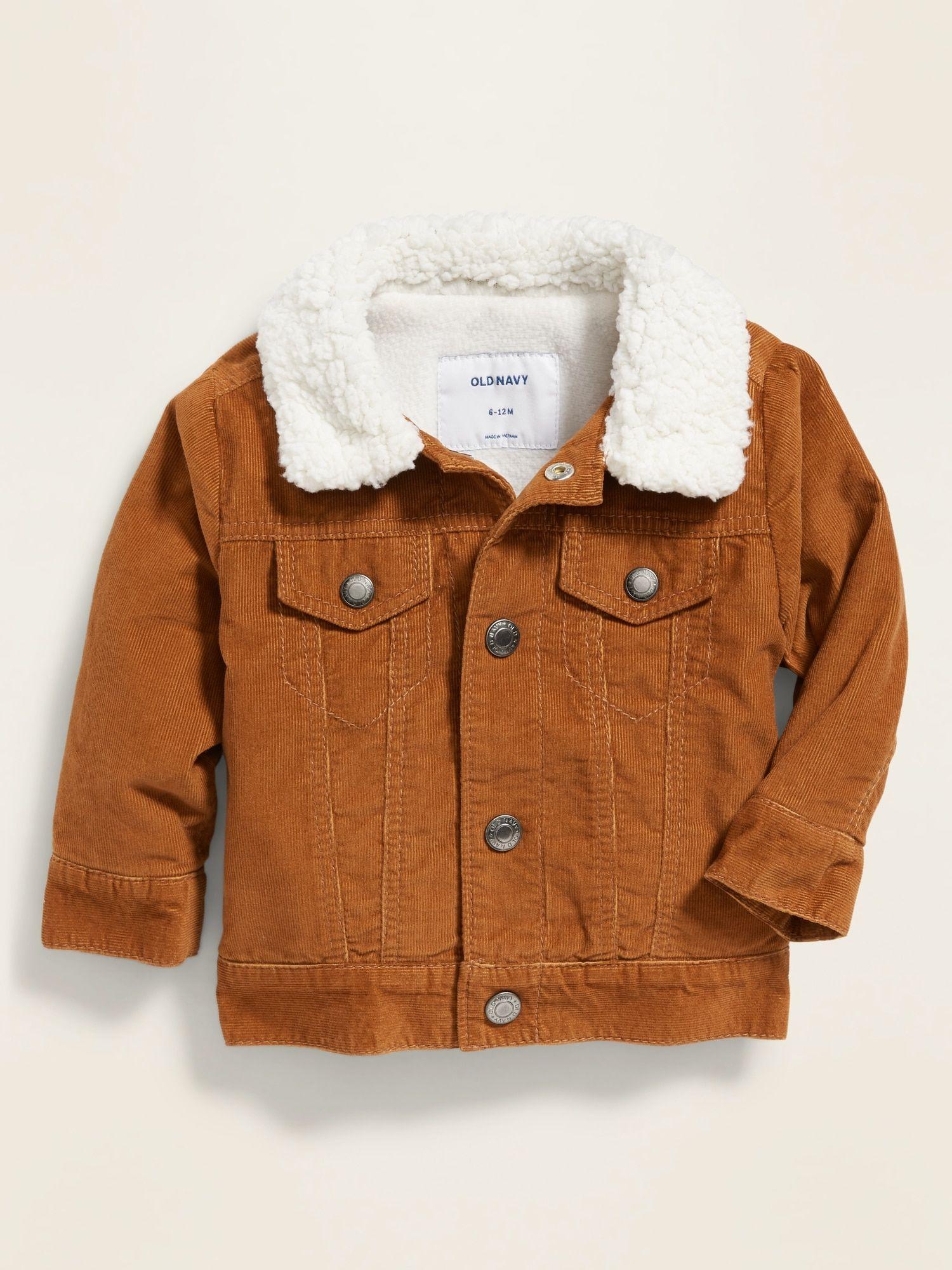 Corduroy Sherpa Collar Trucker Jacket For Baby Old Navy Baby Girl Jackets Girls Jacket Baby Boy Jackets [ 2000 x 1500 Pixel ]
