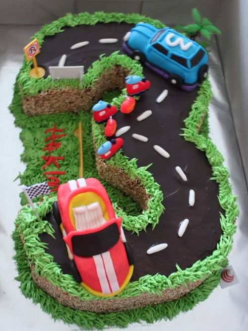 amazing road cake birthday for boys Amazing Birthday Cakes ... Cool Cupcakes For Boys