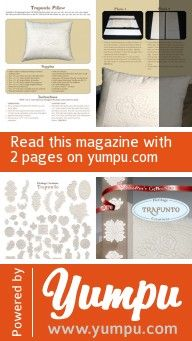 Trapunto Pillow - Magazine with 2 pages: Trapunto Pillow