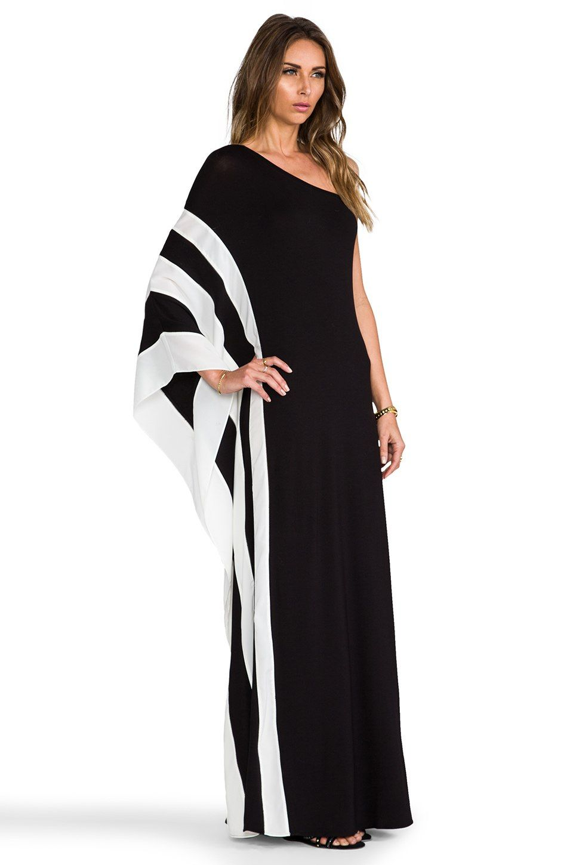 Rachel Zoe Azur One Shoulder Maxi Dress in Schwarz & Weiß | REVOLVE ...